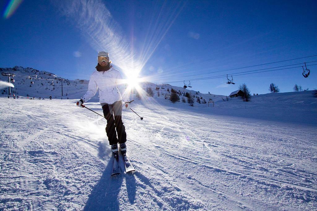 Катание на лыжах в горах с Ольгой Планкевич