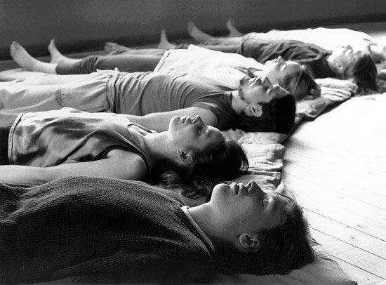 Групповое занятие йога нидра