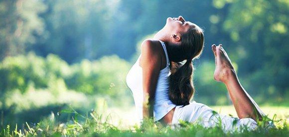 Поза йоги для развития гибкости