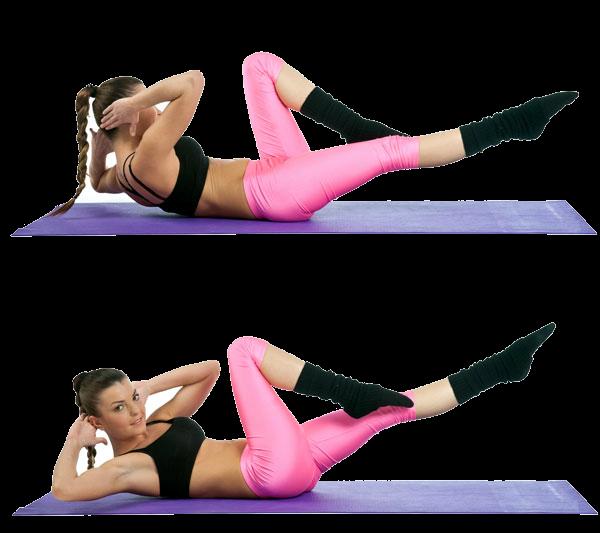 Упражнение для плоского живота и талии