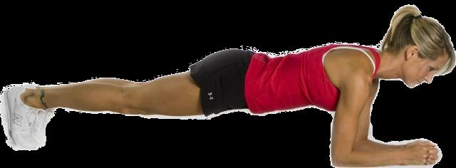 Упражнение планка позволяет привести мышцы живота и спины в тонус