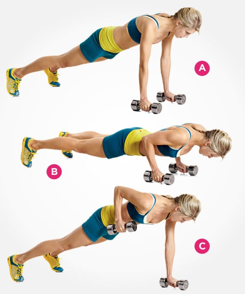 Push-Up With Row