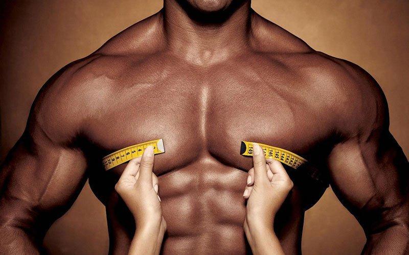 Измерение объема мышц сантиметром