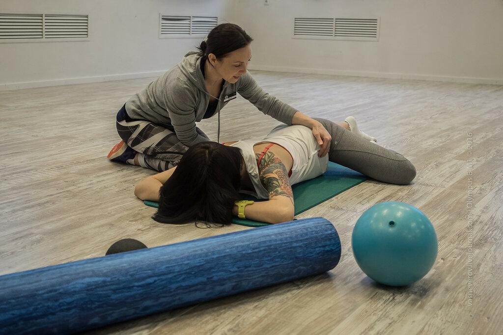 Реабилитационная тренировка с тренером фитнес-клуба «Манго»