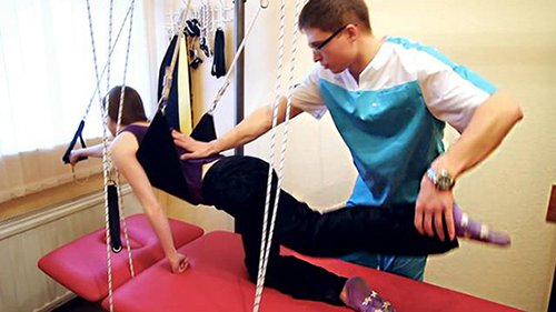 Реабилитационное занятие после перелома