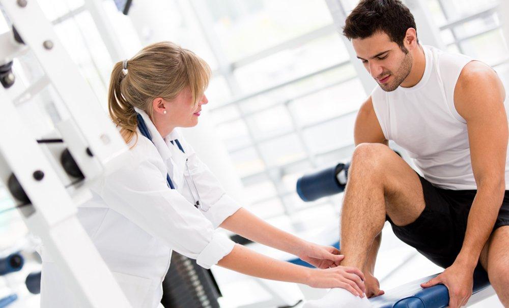 Посещение врача после получения травмы