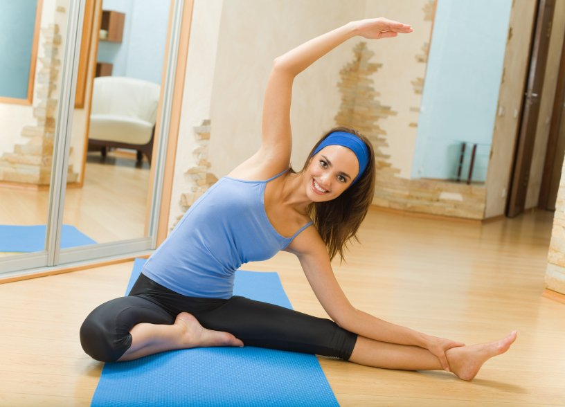 Упражнение для растяжки — наклоны в сторону