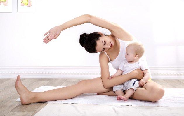Занятия гимнастикой после беременности с ребенком