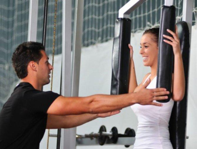 Индивидуальные занятия с фитнес-тренером